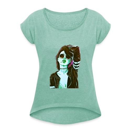 01 03 04 04 59 - Frauen T-Shirt mit gerollten Ärmeln