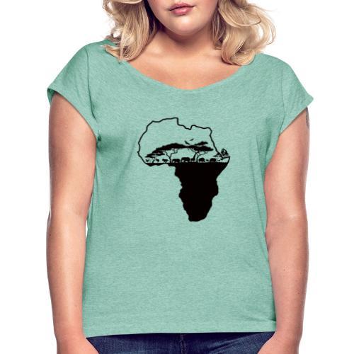 Afrique Savane - T-shirt à manches retroussées Femme