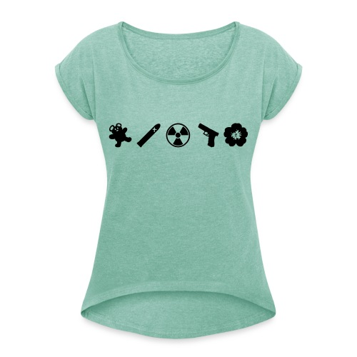 Northmoor 5 Icons - Women's T-Shirt with rolled up sleeves