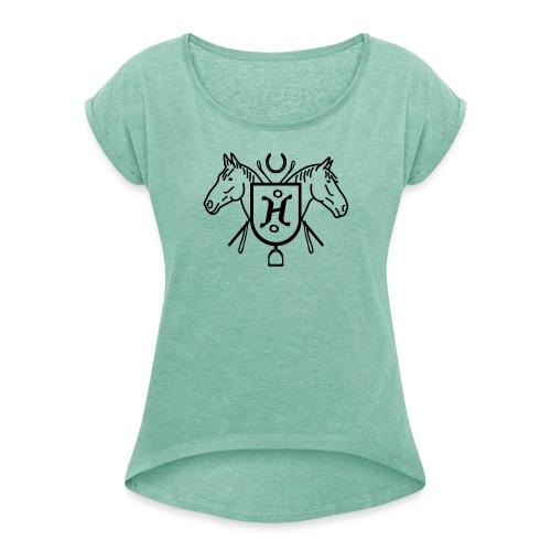Herodot Wappen - Frauen T-Shirt mit gerollten Ärmeln