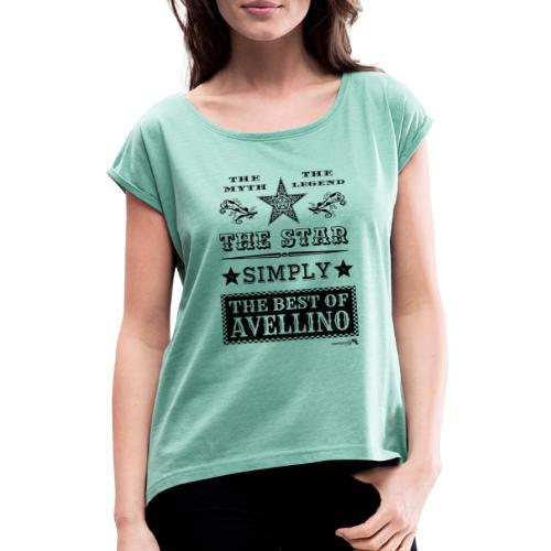 1,03 The Star Legend Avellino - Maglietta da donna con risvolti