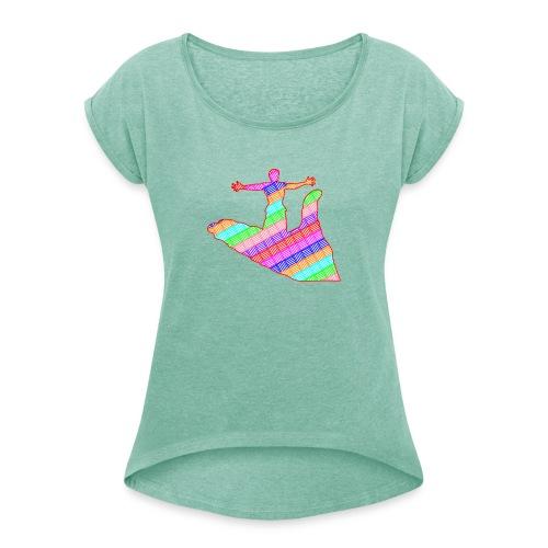 main - T-shirt à manches retroussées Femme