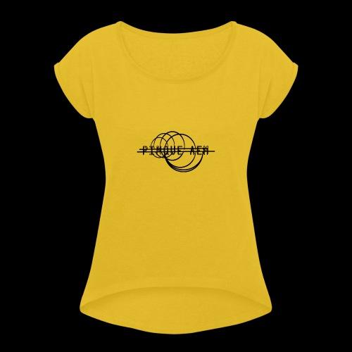 Pinque AEM NERO - Maglietta da donna con risvolti