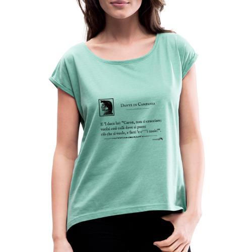 1,06 Dante Vuolsi Cosi - Maglietta da donna con risvolti