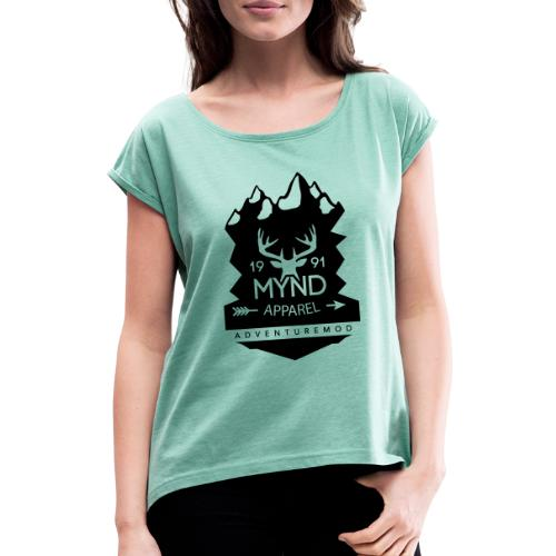 BAUMMYND jpg - Frauen T-Shirt mit gerollten Ärmeln