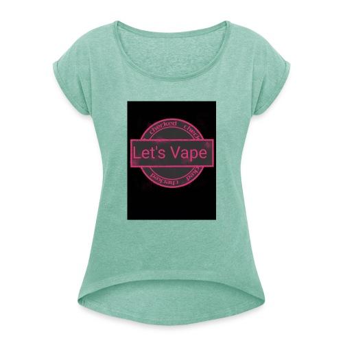 IMG 20190209 WA0000 - Frauen T-Shirt mit gerollten Ärmeln
