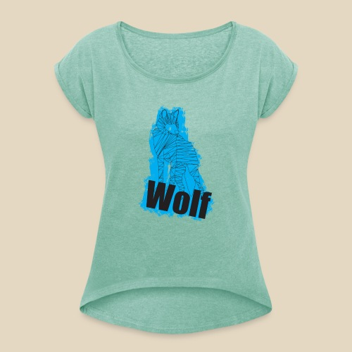 Blue Wolf - T-shirt à manches retroussées Femme