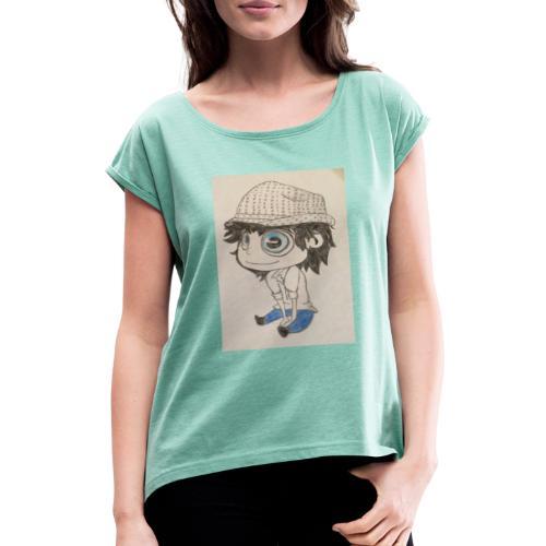 la vida es bella - Camiseta con manga enrollada mujer
