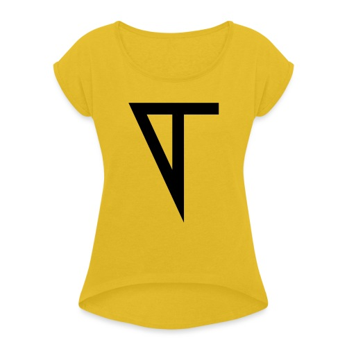 T - Women's T-Shirt with rolled up sleeves