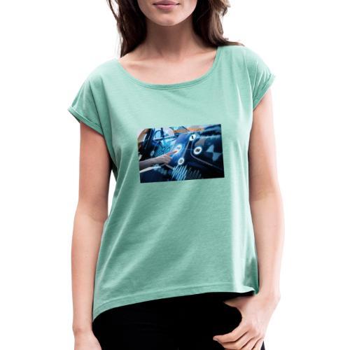 smart car - Camiseta con manga enrollada mujer