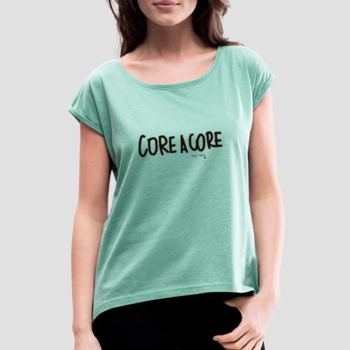 Core a Core - Maglietta da donna con risvolti