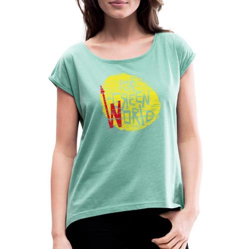for green - Camiseta con manga enrollada mujer