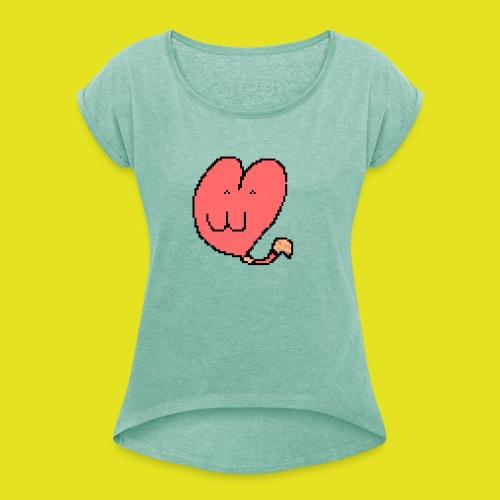 Nekoeur - T-shirt à manches retroussées Femme