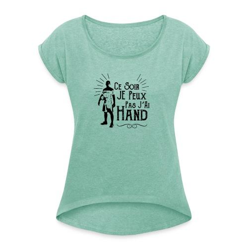 jaiHand - T-shirt à manches retroussées Femme
