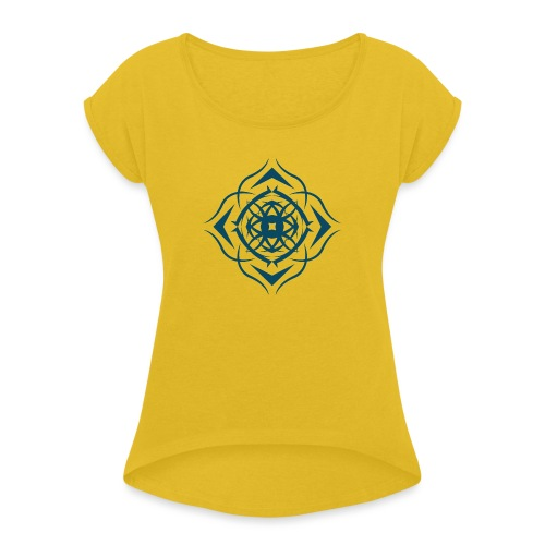 Strength - Frauen T-Shirt mit gerollten Ärmeln