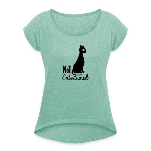 chat - T-shirt à manches retroussées Femme