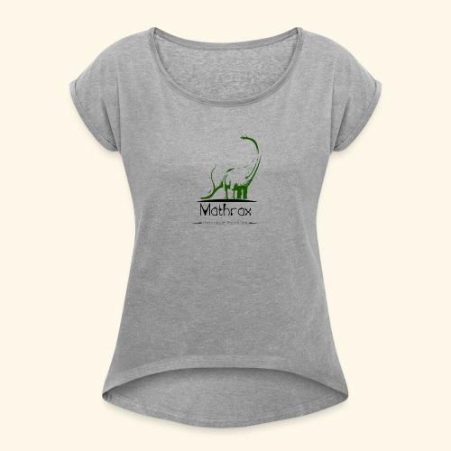 logo mathrax - T-shirt à manches retroussées Femme