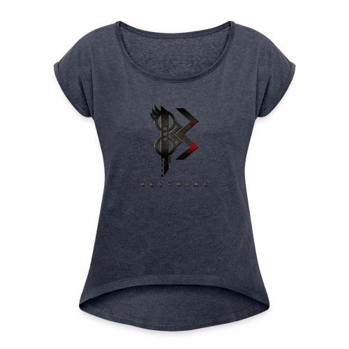 Viking Besthial Blanc - T-shirt à manches retroussées Femme