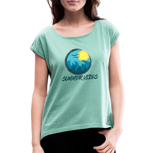 Summer Vibes - Maglietta da donna con risvolti