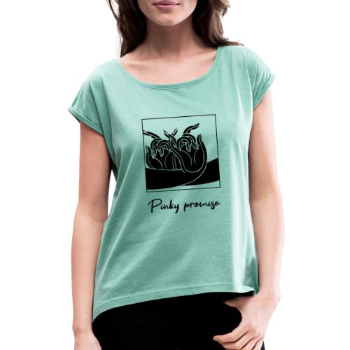 Pinky promise - T-shirt à manches retroussées Femme