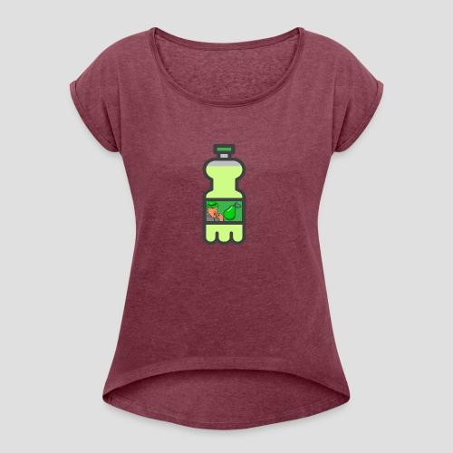 Pear Soda Merchandise - Naisten T-paita, jossa rullatut hihat