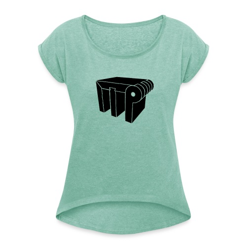 Logo 2018 - Women's T-Shirt with rolled up sleeves