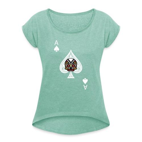 Ace of spades - The skulls players - T-shirt à manches retroussées Femme