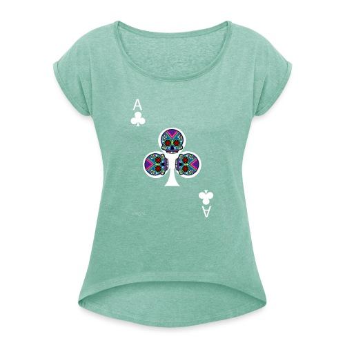 Ace of clubs - The skulls players - T-shirt à manches retroussées Femme
