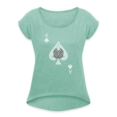 Ace of spades -gray version- The Skulls Players - T-shirt à manches retroussées Femme