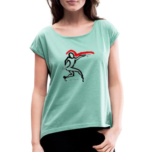 MMD Lester - Frauen T-Shirt mit gerollten Ärmeln