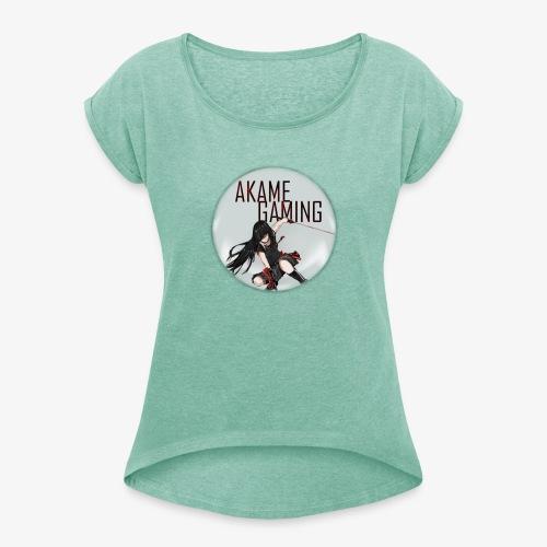 Akame Gaming - Frauen T-Shirt mit gerollten Ärmeln
