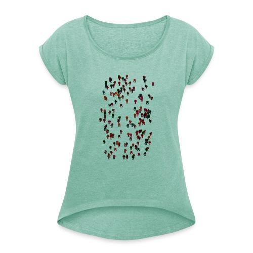 Neural Farmer - Koszulka damska z lekko podwiniętymi rękawami