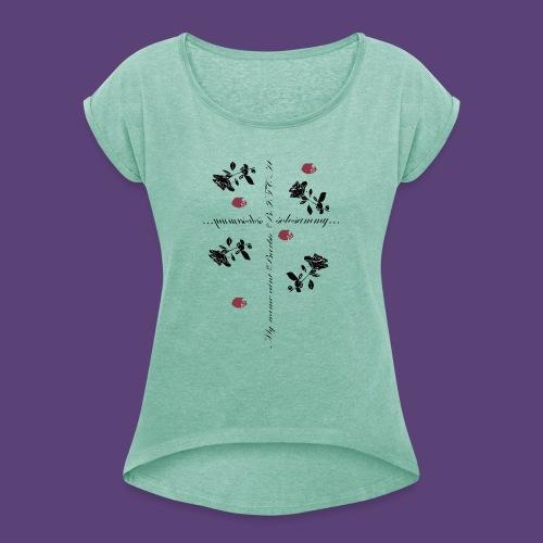 name_aint_barbie - Vrouwen T-shirt met opgerolde mouwen