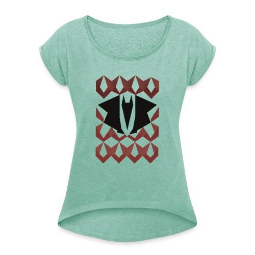 Dragon chain - Vrouwen T-shirt met opgerolde mouwen