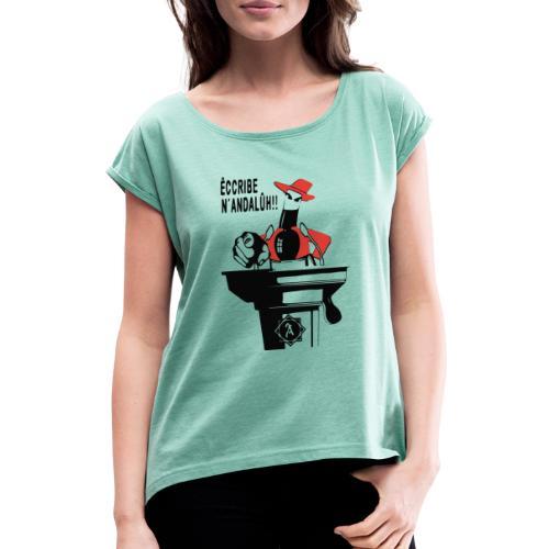 Tito - Camiseta con manga enrollada mujer