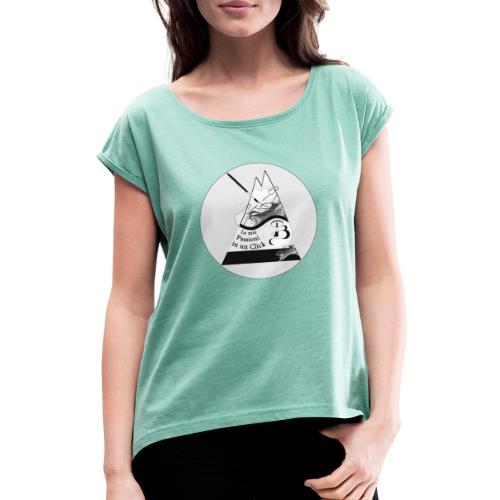 Logo BN - Maglietta da donna con risvolti