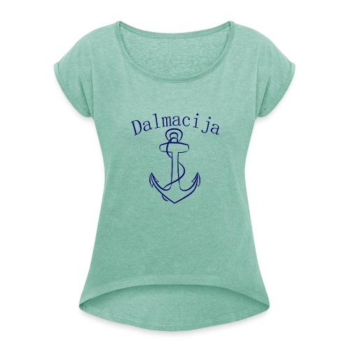 Dalmacija - Frauen T-Shirt mit gerollten Ärmeln
