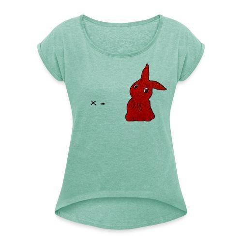 xHase png - Frauen T-Shirt mit gerollten Ärmeln