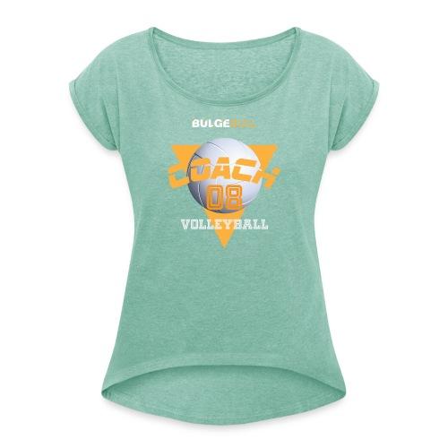 voleibol bulgebull - Camiseta con manga enrollada mujer