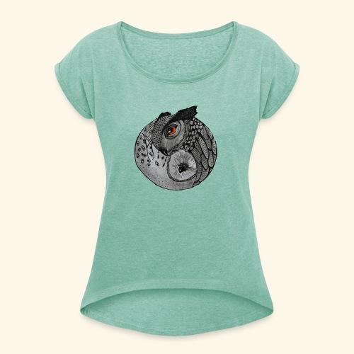 Chouette ying-yang - T-shirt à manches retroussées Femme