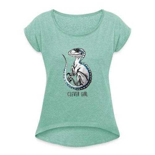 Baby Blue JW - T-shirt à manches retroussées Femme