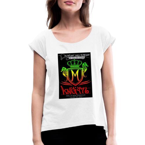 received 417015915126247 - T-shirt à manches retroussées Femme