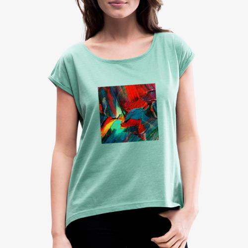 Frihetskämpe - T-shirt med upprullade ärmar dam