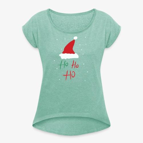 hohoho - T-shirt à manches retroussées Femme