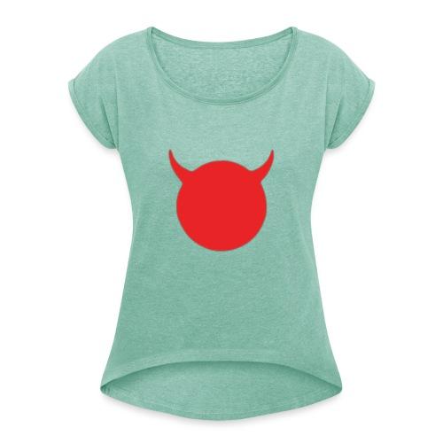 diable tete - T-shirt à manches retroussées Femme