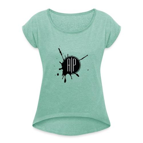 Atomic-Print - T-shirt à manches retroussées Femme
