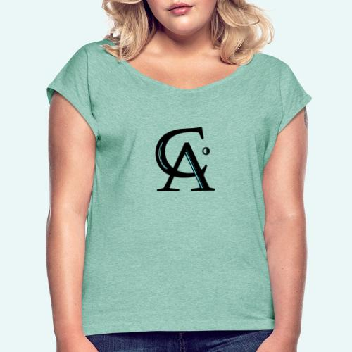 C.A. - Frauen T-Shirt mit gerollten Ärmeln