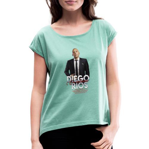 Diego Rios Madrid - Camiseta con manga enrollada mujer