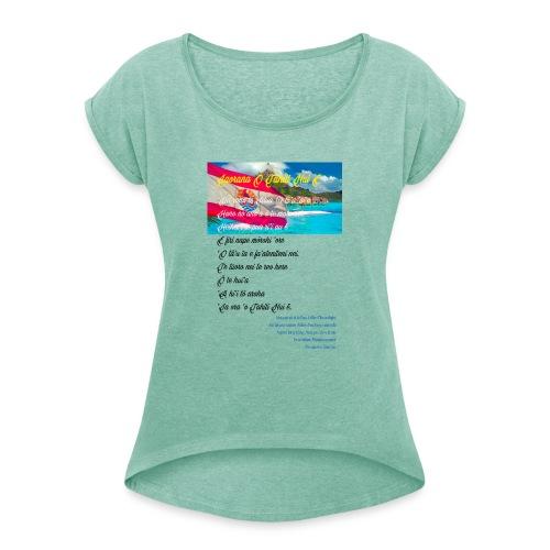 15 HYMNE TAHITI - T-shirt à manches retroussées Femme