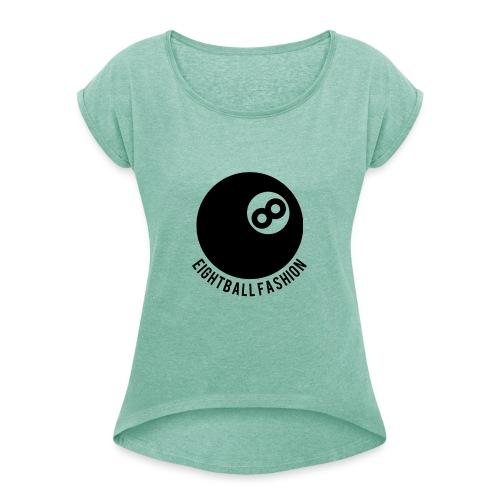 Eightball fashion - Vrouwen T-shirt met opgerolde mouwen